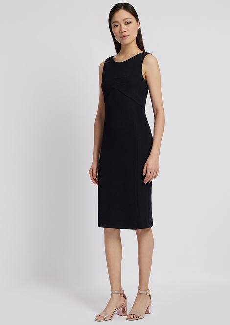 Sheath dress in textured jersey