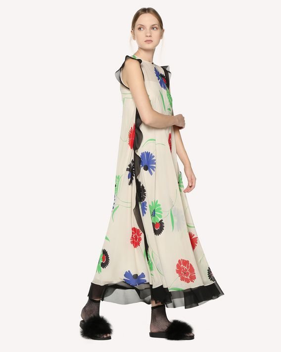 REDValentino Silk dress with Breezy Flowers print