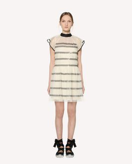 REDValentino Micro sequined point d'esprit tulle dress