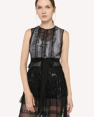 REDValentino RR3VA00HCYB 0NO Long and midi dresses Woman e