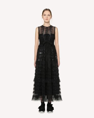 REDValentino RR3VA00HCYB 0NO Long and midi dresses Woman f