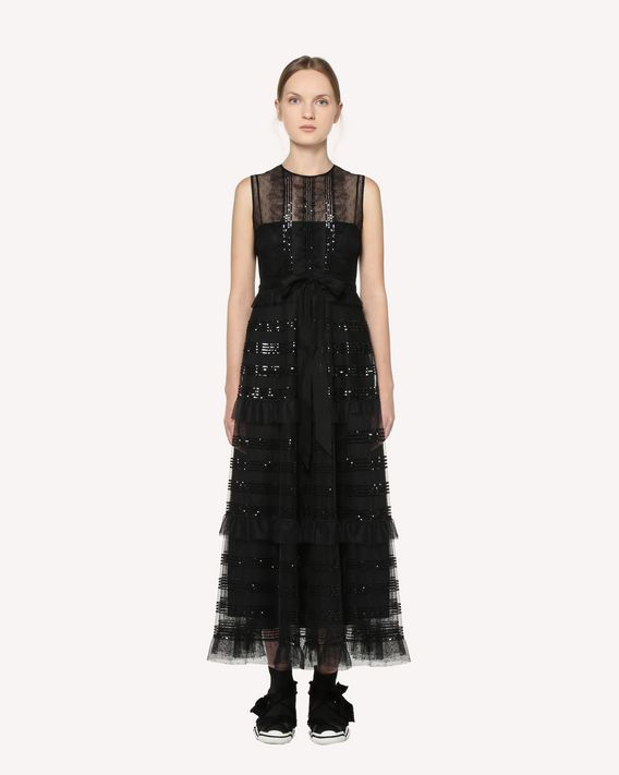 REDValentino Micro sequined point d'dsprit tulle dress