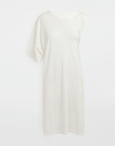MM6 MAISON MARGIELA Asymmetrical jersey midi dress 3/4 length dress [*** pickupInStoreShipping_info ***] f