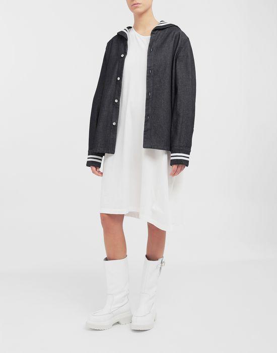 MM6 MAISON MARGIELA Asymmetrical jersey midi dress 3/4 length dress [*** pickupInStoreShipping_info ***] d