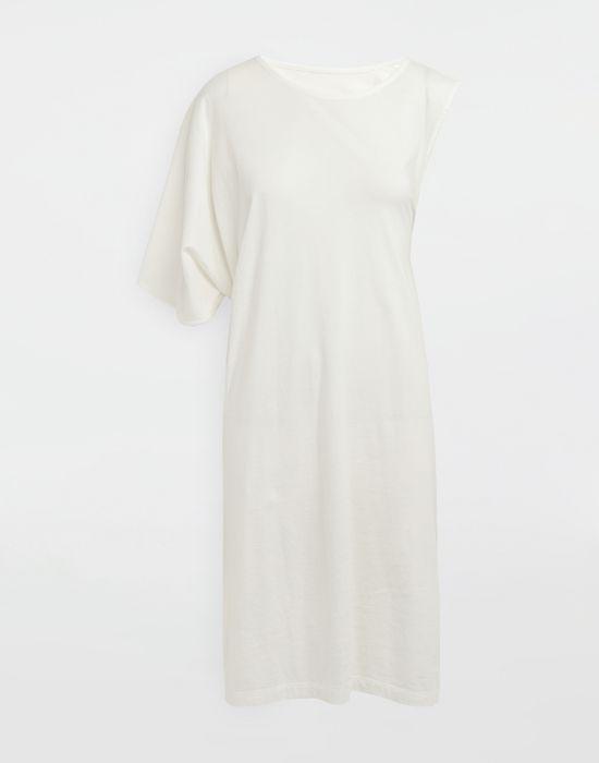 MM6 MAISON MARGIELA Asymmetrical jersey midi dress 3/4 length dress [*** pickupInStoreShipping_info ***] f