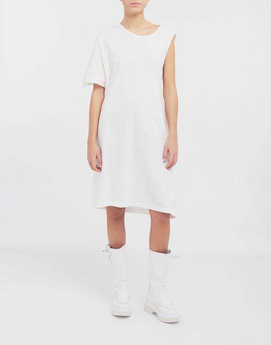 MM6 MAISON MARGIELA Asymmetrical jersey midi dress 3/4 length dress [*** pickupInStoreShipping_info ***] r