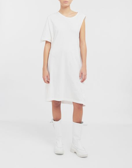 MM6 MAISON MARGIELA Asymmetrical jersey midi dress 3/4 length dress Woman r