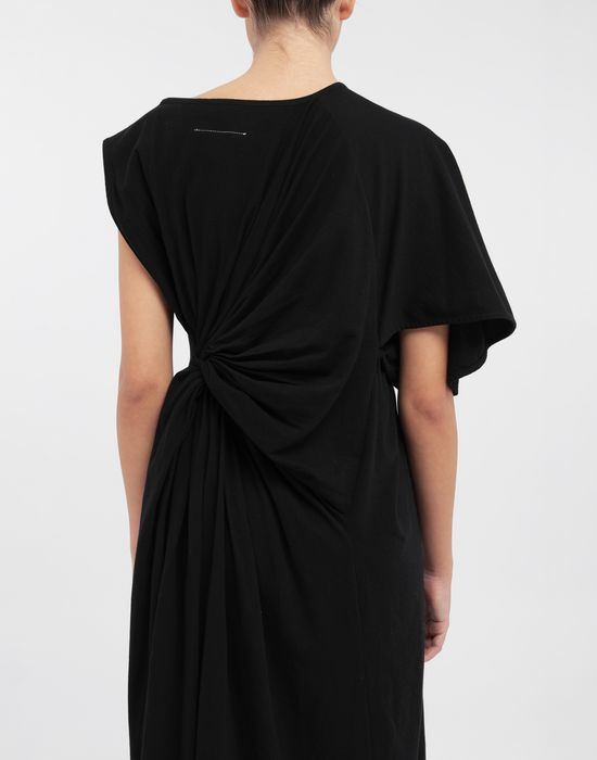 MM6 MAISON MARGIELA Asymmetrical jersey midi dress 3/4 length dress [*** pickupInStoreShipping_info ***] b