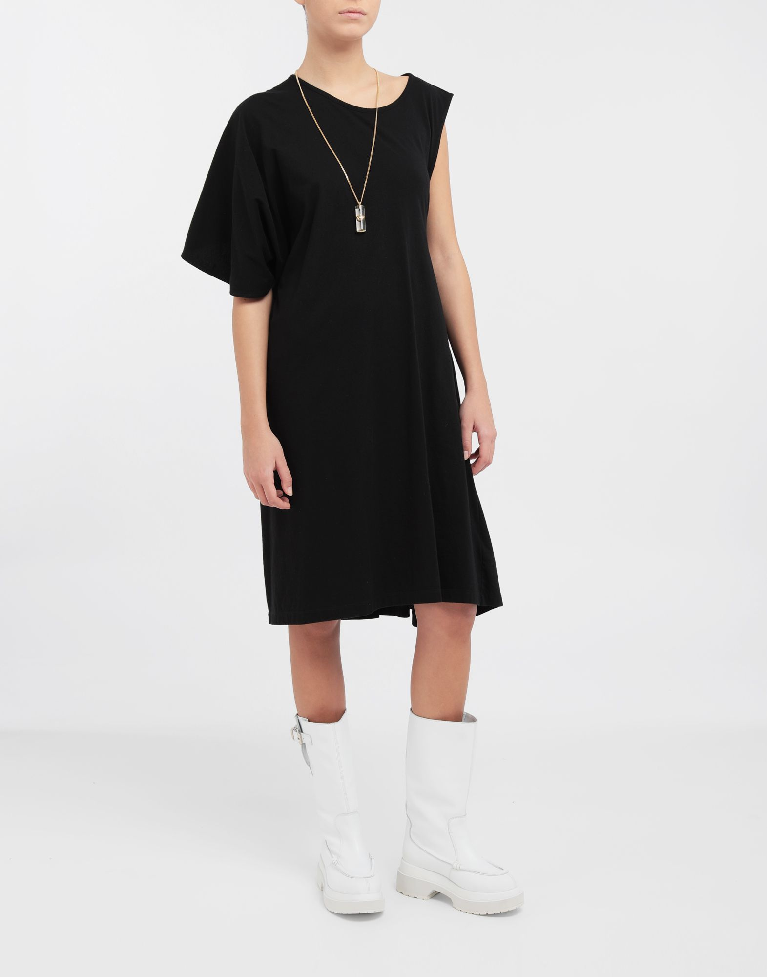 MM6 MAISON MARGIELA Asymmetrical jersey midi dress 3/4 length dress Woman d