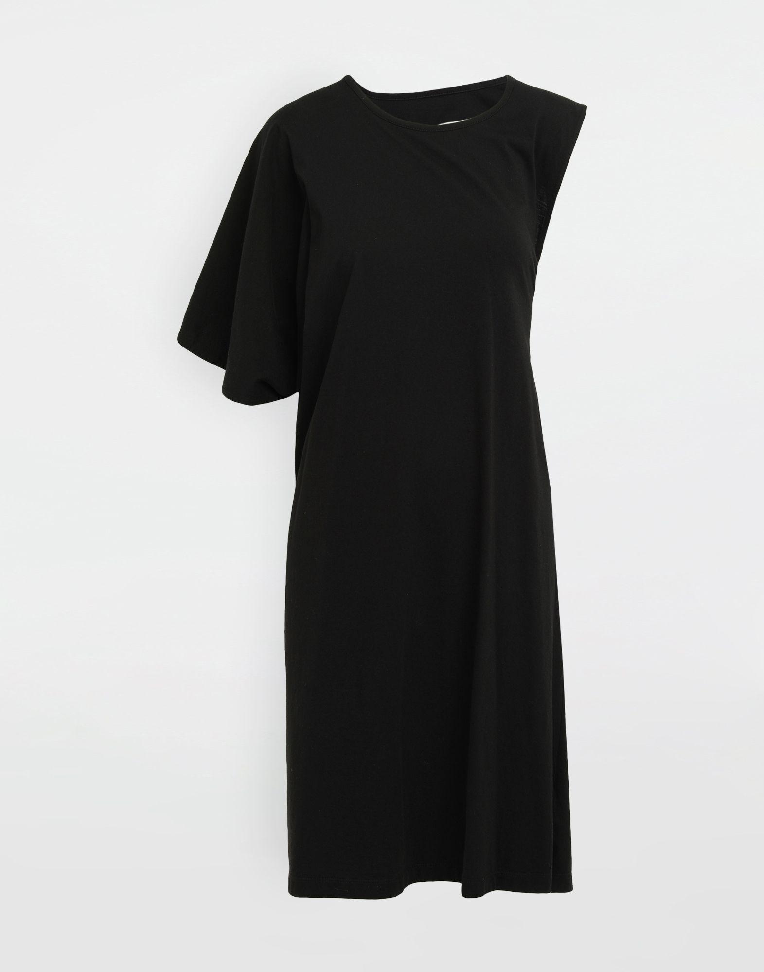 MM6 MAISON MARGIELA Asymmetrical jersey midi dress 3/4 length dress Woman f