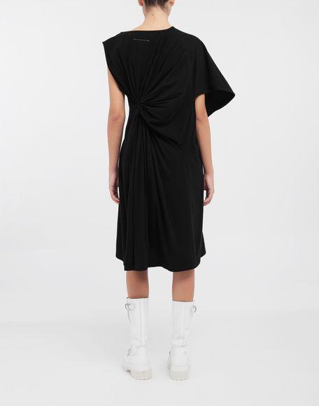 MM6 MAISON MARGIELA Asymmetrical jersey midi dress 3/4 length dress Woman e
