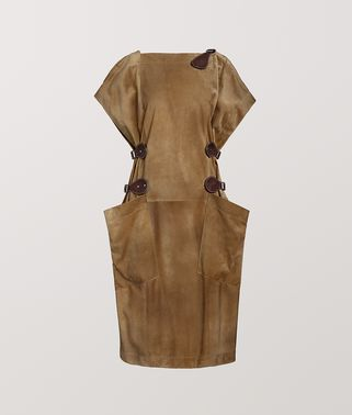 DRESS IN CALF SUEDE