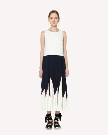 REDValentino Techno Fluid dress with rocket intarsia