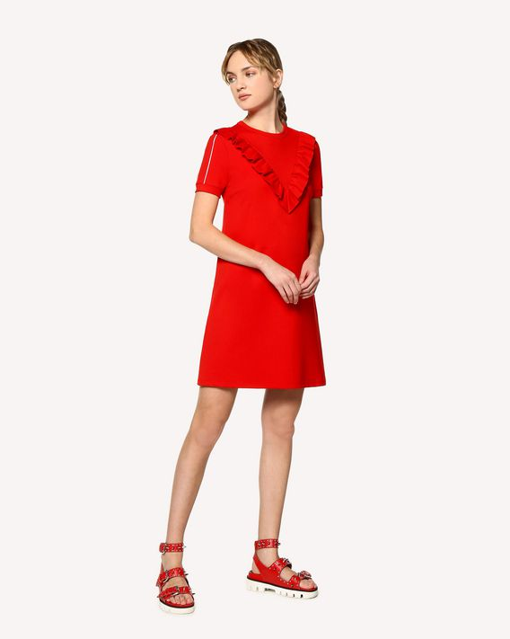 REDValentino Ruffle jersey dress