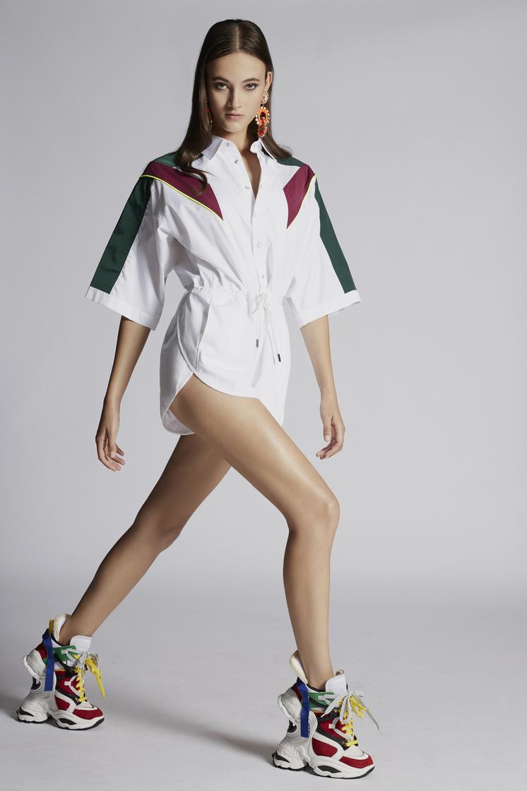 DSQUARED2 Cotton Poplin Jimmie Short Jumpsuit Jumpsuit Woman