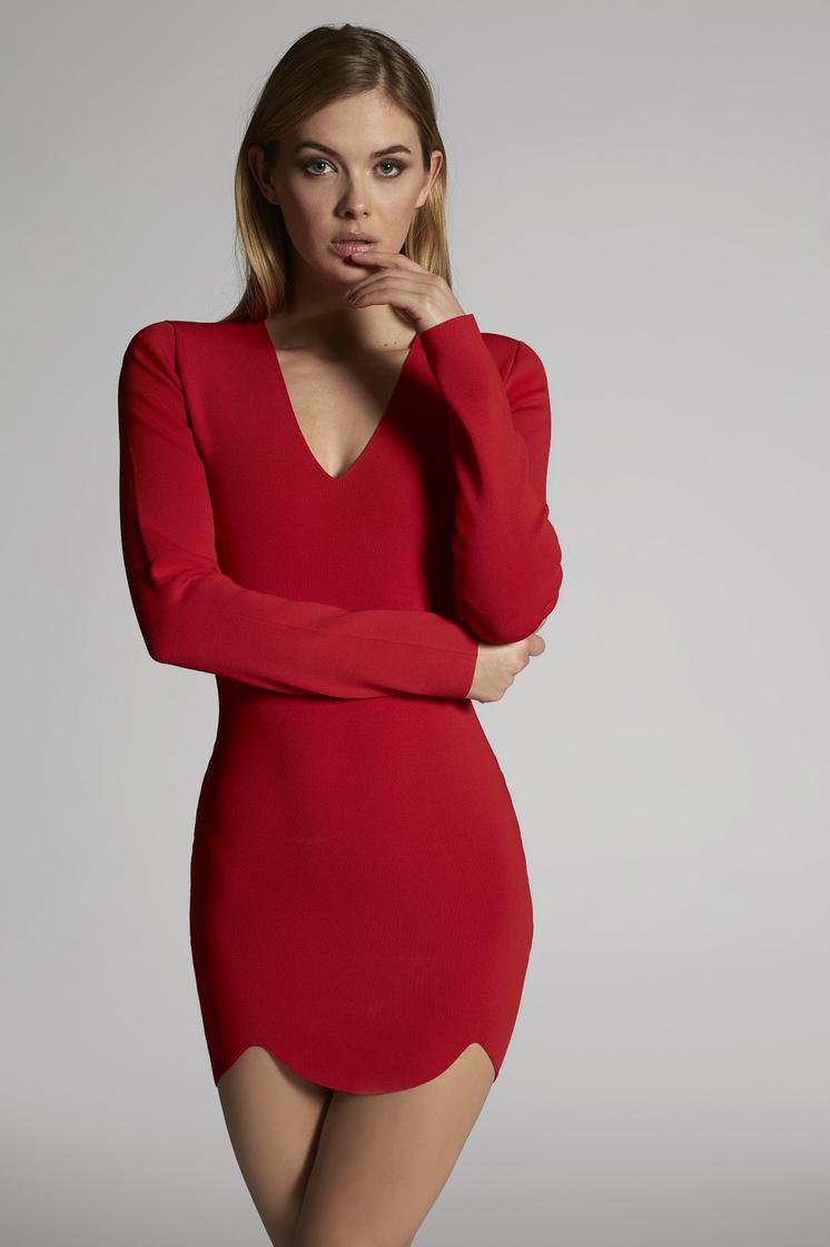 DSQUARED2 Viscose Long Sleeved Dress Short dress Woman