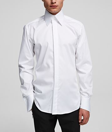 KARL LAGERFELD SHARK COLLAR SHIRT