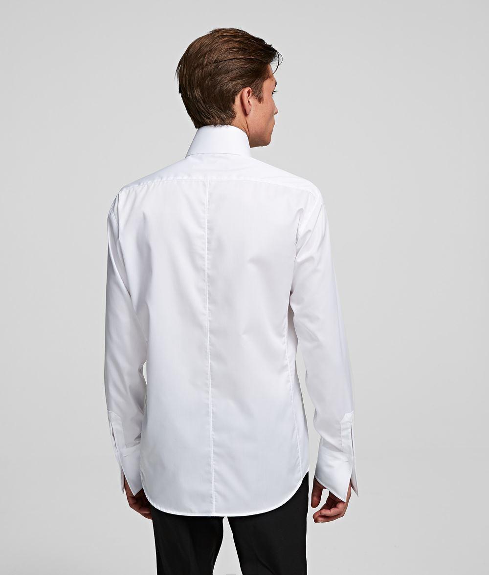 KARL LAGERFELD Shark Collar Shirt Shirt Man d