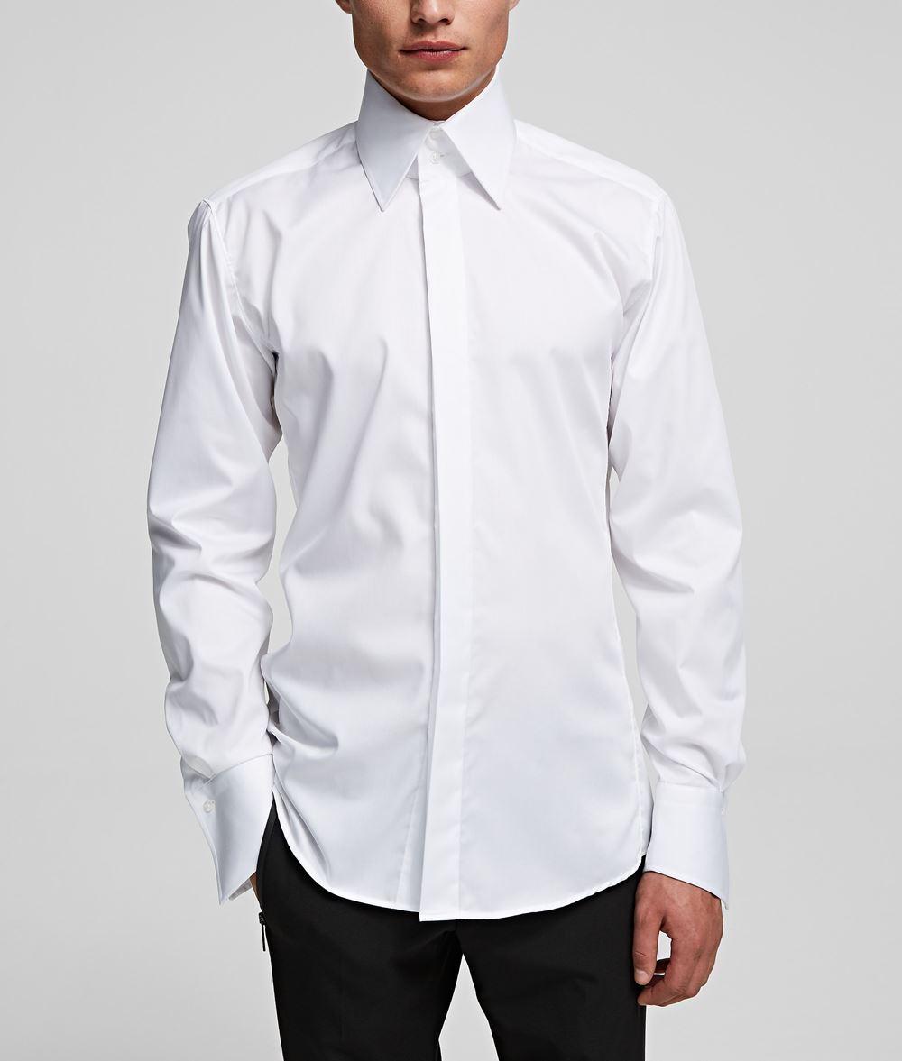 KARL LAGERFELD Shark Collar Shirt Shirt Man f