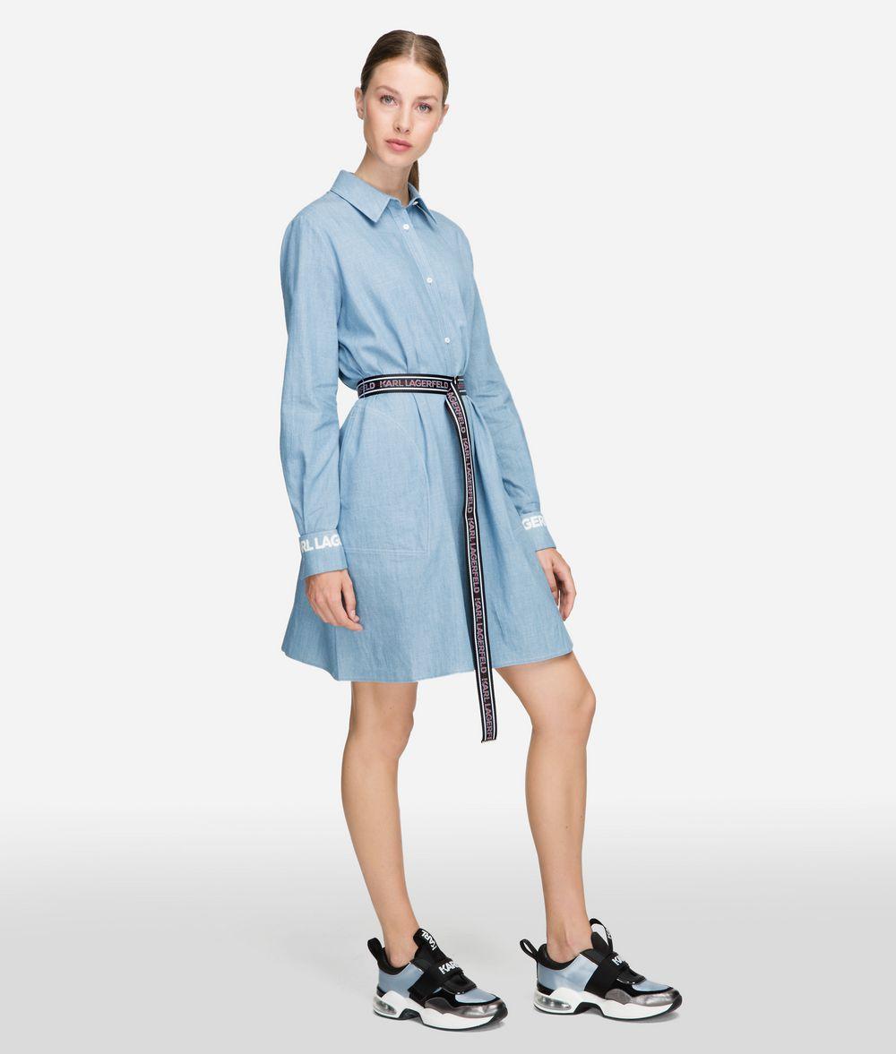 KARL LAGERFELD Shirt Dress With Logo Belt Dress Woman f