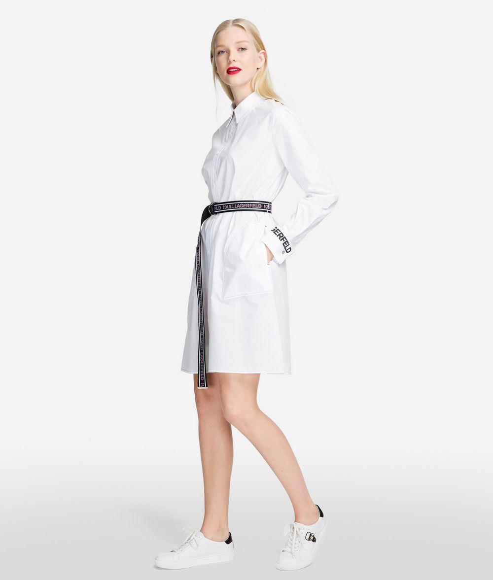 KARL LAGERFELD Shirt Dress With Logo Belt Dress Woman d