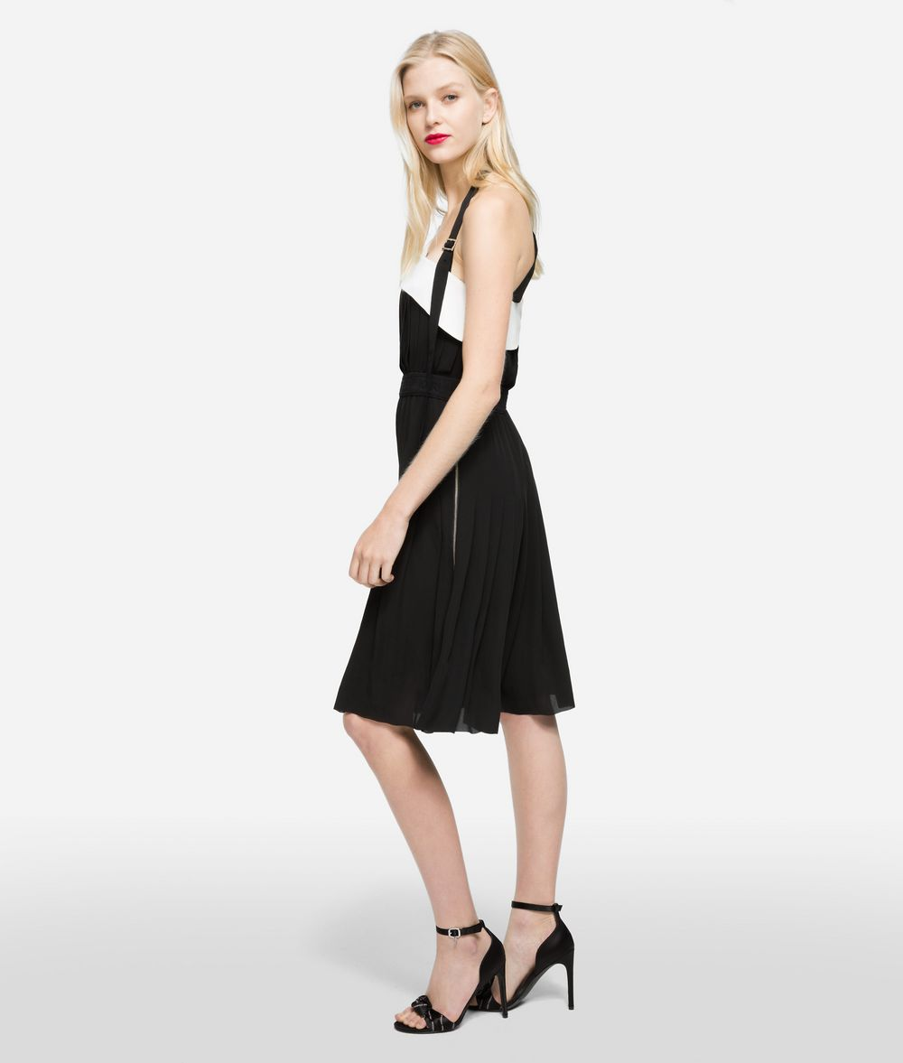 KARL LAGERFELD Pleated Dress with Strap Dress Woman d