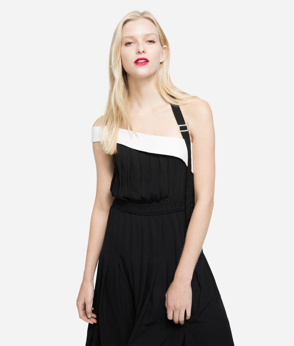 KARL LAGERFELD Pleated Dress with Strap Dress Woman f