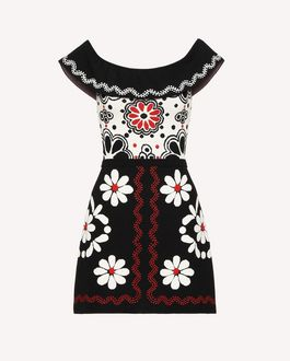 REDValentino Knit Dress Woman RR3KDA19SXC 0NO a