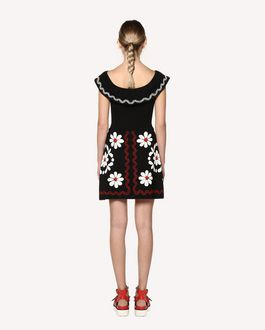 REDValentino Stretch viscose Decorated Terrace jacquard knit dress