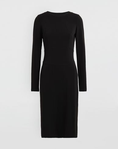 MAISON MARGIELA 3/4 length dress [*** pickupInStoreShipping_info ***] Stitch-jacquard jersey knit dress f
