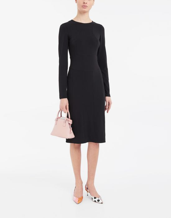 MAISON MARGIELA Stitch-jacquard jersey knit dress 3/4 length dress [*** pickupInStoreShipping_info ***] d