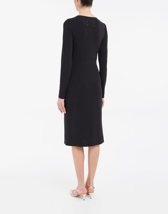 MAISON MARGIELA Stitch-jacquard jersey knit dress 3/4 length dress [*** pickupInStoreShipping_info ***] e