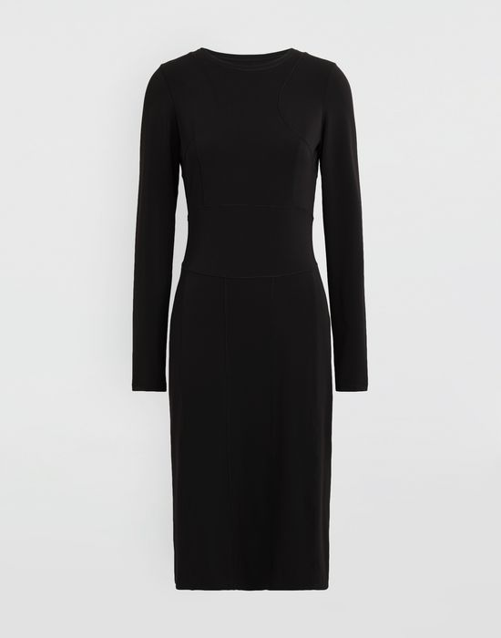 MAISON MARGIELA Stitch-jacquard jersey knit dress 3/4 length dress [*** pickupInStoreShipping_info ***] f