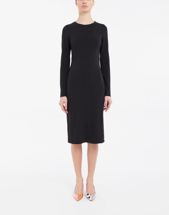 MAISON MARGIELA Stitch-jacquard jersey knit dress 3/4 length dress [*** pickupInStoreShipping_info ***] r