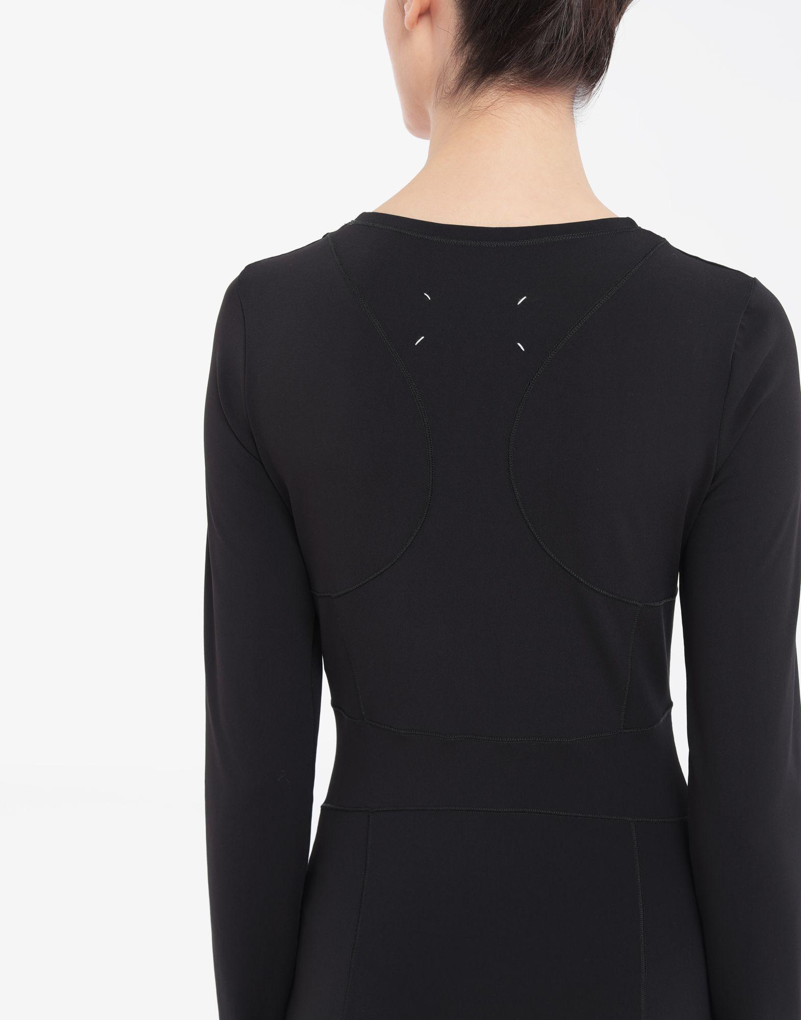 MAISON MARGIELA Stitch-jacquard jersey knit dress 3/4 length dress Woman b