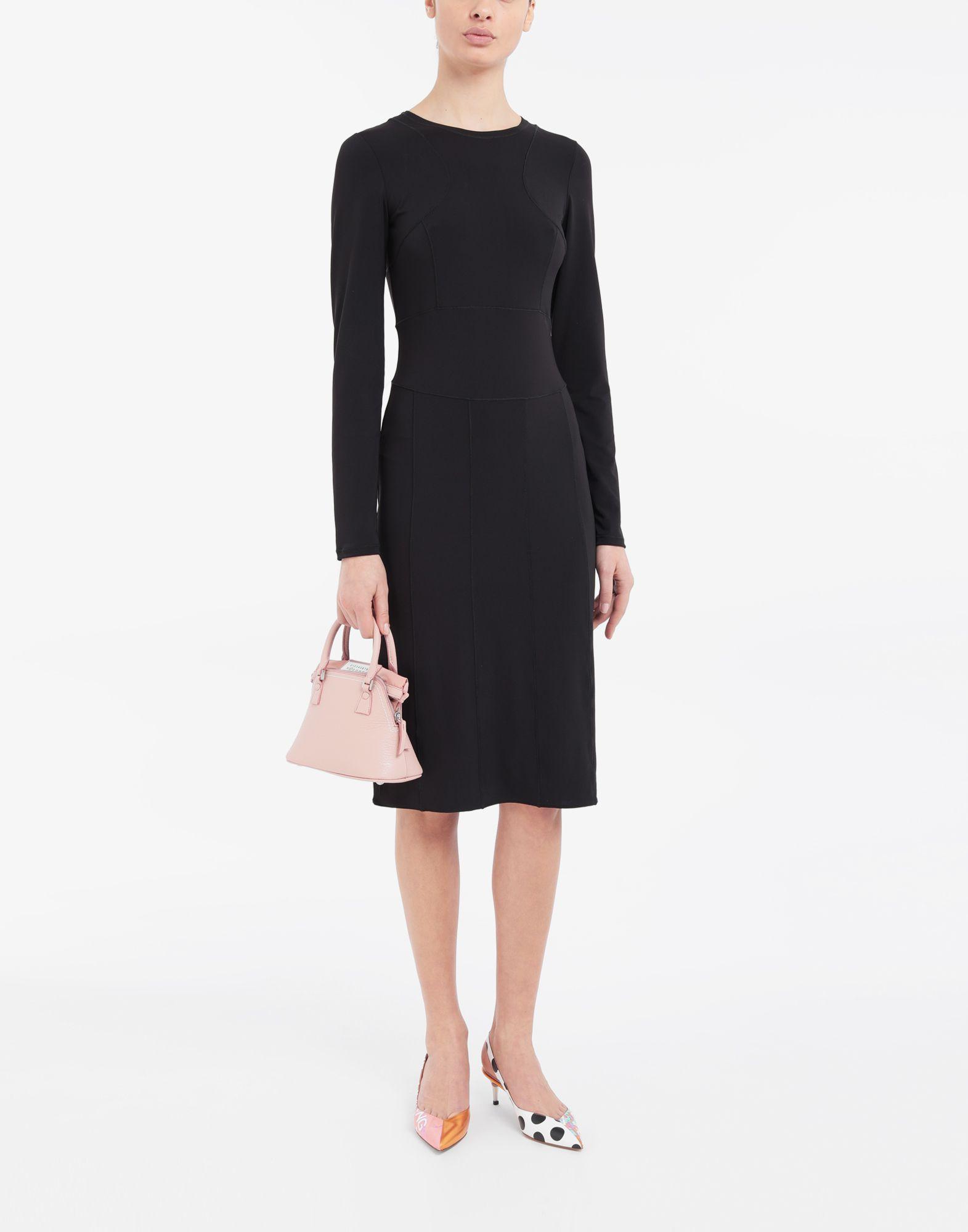 MAISON MARGIELA Stitch-jacquard jersey knit dress 3/4 length dress Woman d