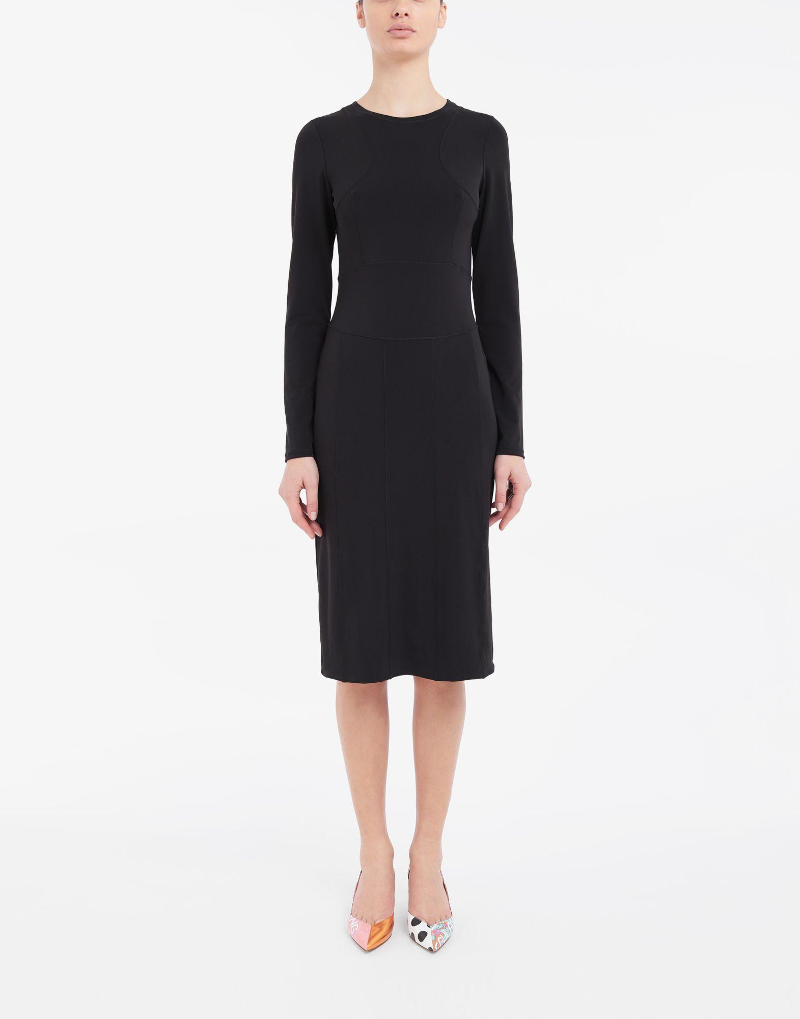 MAISON MARGIELA Stitch-jacquard jersey knit dress 3/4 length dress Woman r