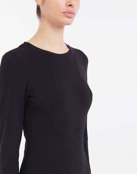 MAISON MARGIELA Stitch-jacquard jersey knit dress 3/4 length dress Woman a