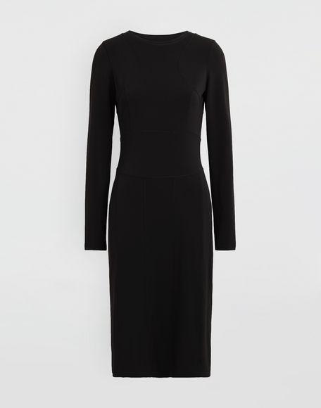 MAISON MARGIELA Stitch-jacquard jersey knit dress 3/4 length dress Woman f