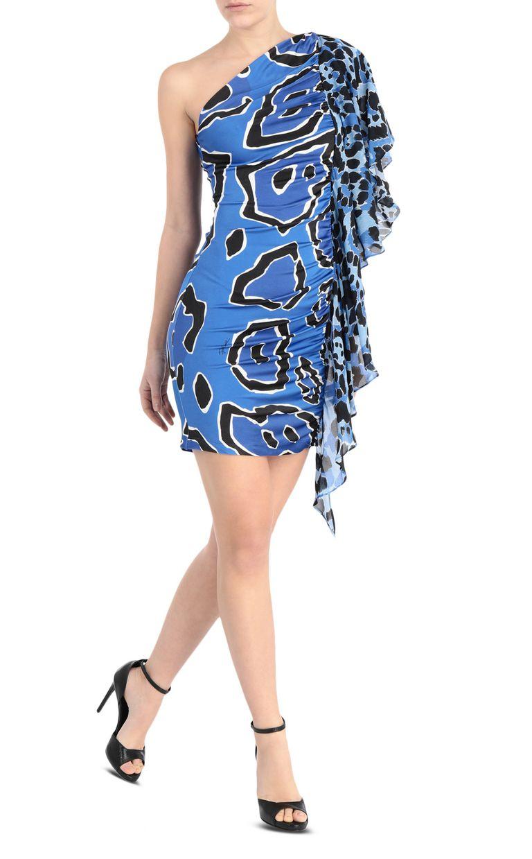 JUST CAVALLI Off-shoulder panther-print dress Short dress [*** pickupInStoreShipping_info ***] d