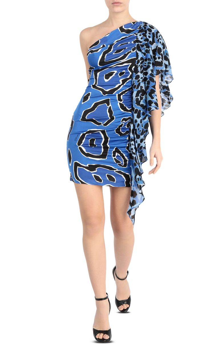 JUST CAVALLI Off-shoulder panther-print dress Short dress [*** pickupInStoreShipping_info ***] f