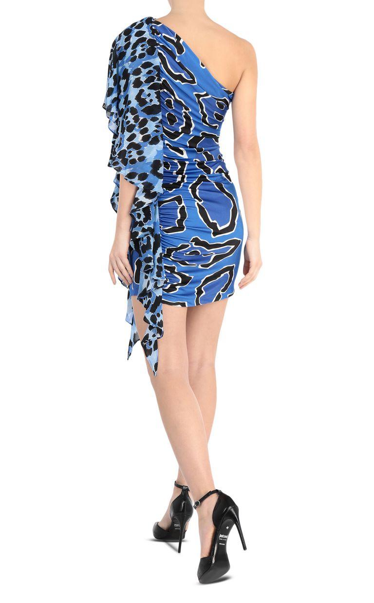 JUST CAVALLI Off-shoulder panther-print dress Short dress Woman r
