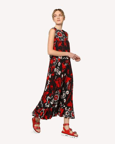 REDValentino RR0VAC15PZL 0NO Printed dress Woman d