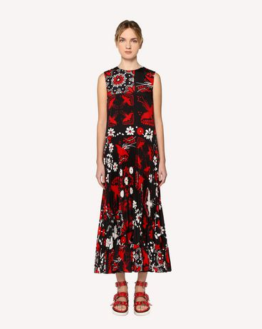 REDValentino RR0VAC15PZL 0NO Printed dress Woman f