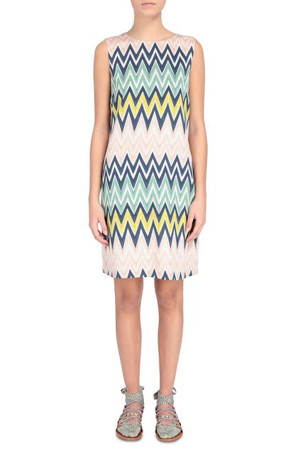 M MISSONI Dress Beige Woman - Back
