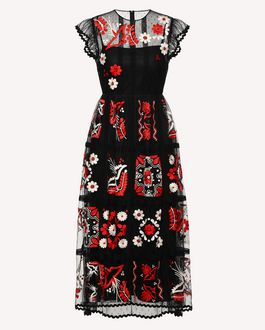 REDValentino Printed dress Woman RR3VAE95XKP 0NO a