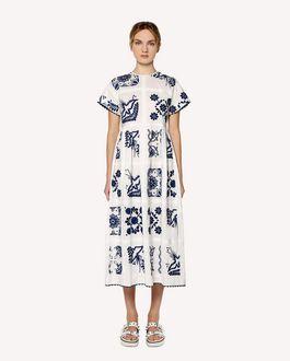 REDValentino コットンポプリン ドレス デコレーション・テラス エンブロイダリー