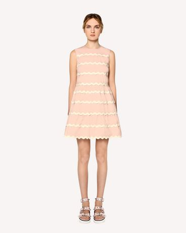 REDValentino Stretch compact poplin dress with zagana detail