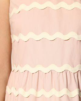 REDValentino Stretch compact poplin dress with zagana detail