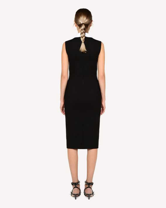 REDValentino Micro canvas stretch dress with bird patches